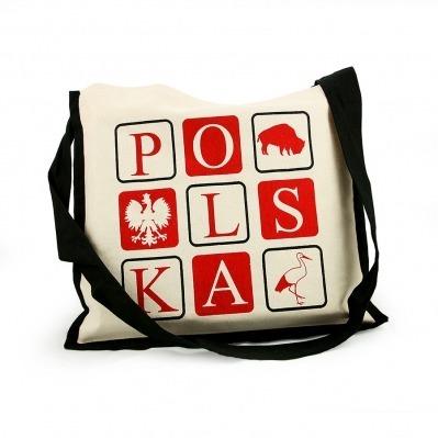 1261c68236977 Torba płócienna czarna z kolorowymi napisami POLSKA ...