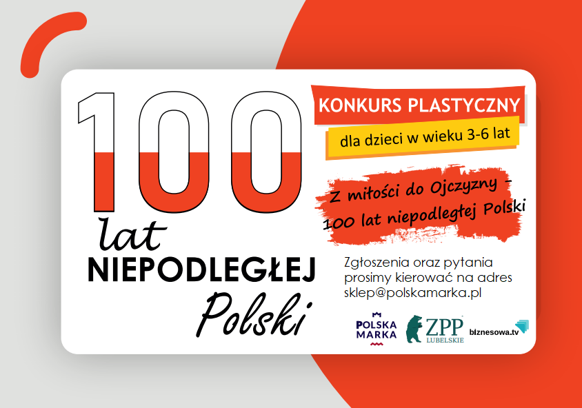 "The results of the art competition ""For love of the homeland - 100 years of independent Poland"""