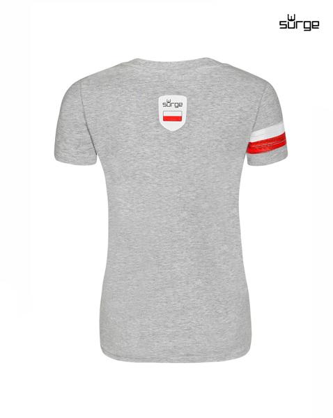 494adc614633 ... Koszulka patriotyczna damska Orzeł Sport OPASKA (JASNY MELANŻ) ...
