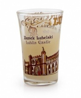 A glass of Lublin 40ml inscription