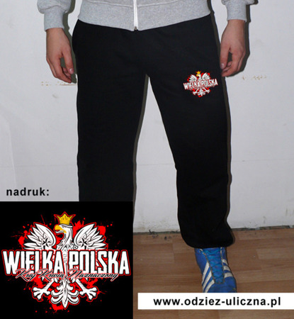 Cotton pants Great Poland Country Blood Marked black