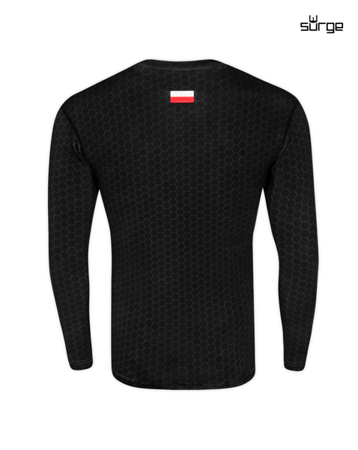 Cyber-skeleton long-sleeved thermoactive shirt