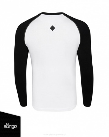NECK Patriotic T-shirt with long sleeves Cursed Soldiers WHITE-BLACK