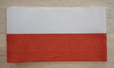 White and red band