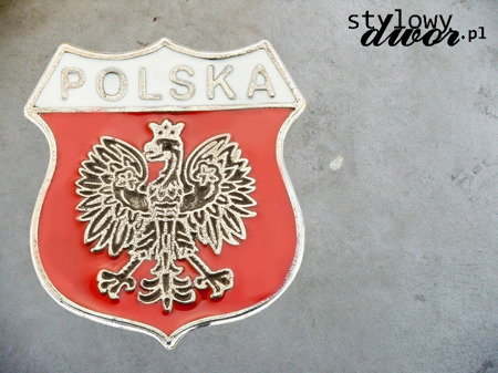 POLISH BUTTON SHIELD WITH EAGLE