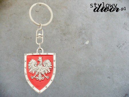 POLISH KEY RING Shield with an Eagle