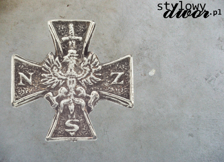 NSZ CROSS - MINIATURE OF MEMORIAL BADGE OF NATIONAL ARMED FORCES