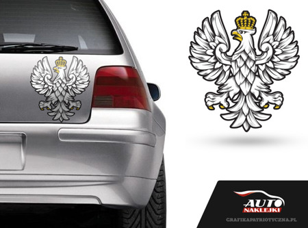 Patriotic Eagle big sticker