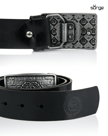 Patriotic belt PW LAUR ON THE WALL (BLACK / SILVER BUCKLE)