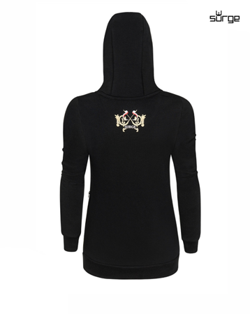 Patriotic women's hooded sweatshirt BLACK Soldiers