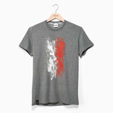 Poland Vertical Flag - Heather Gray (male)