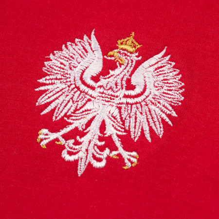 Polish Eagle embroidery. White and red t-shirt. Discreet Collection.