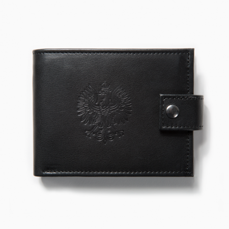 Polish Eagle wallet - black leather
