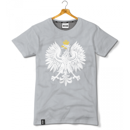 Polish Eagle's patriotic t-shirt - gray