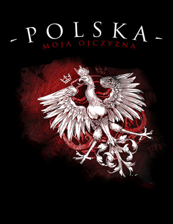 Polish patriotic men's homeland t-shirt black