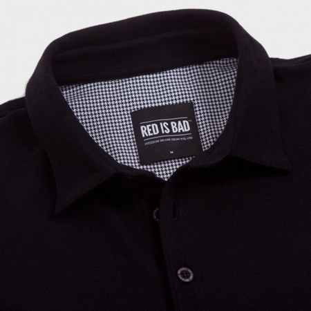 Polo shirt with AK embroidery - black