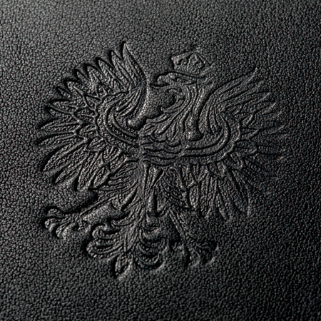 Wallet Eagle Polish - black leather