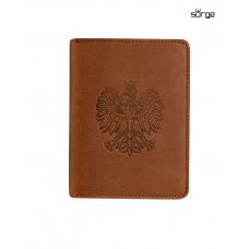Slim wallet Polish Emblem BROWN vertical 892