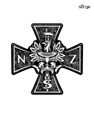 Sticker solvent cross NSZ 12cm x12 cm