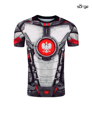 Thermoactive t-shirt Mech Grafen short sleeve (WHITE-RED)