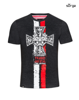 Patriotic T-shirt Cross NSZ flag CIEMNY MELAN
