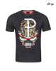 Patriotic T-shirt 63 Days of Glory DARK MELANGE