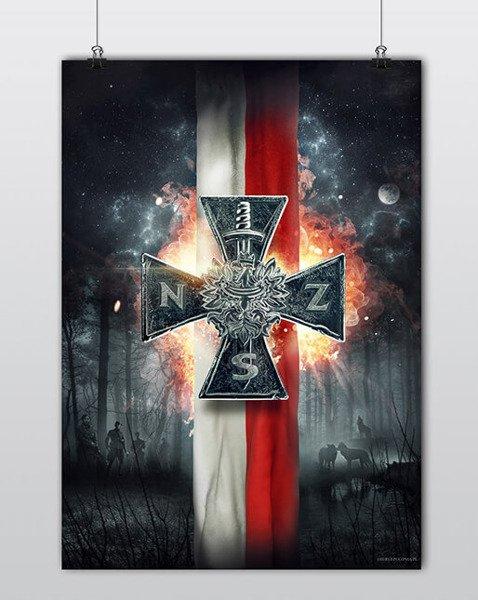 Plakat Patriotyczny Krzyż Nsz A1