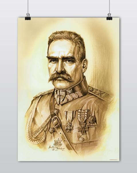 Plakat Patriotyczny Piłsudski Portret A1